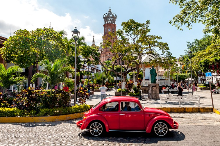 Puerto Vallarta's zocalo (town square) in Old Town