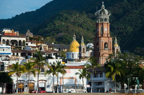Church of Our Lady of Guadalupe and downtown area of Puerto Vallarta