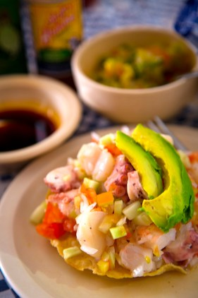 Ceviche at Pichis Seafood, Vallarta Food Tours, El Pitillal