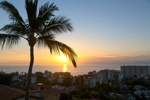 Sunset view from Vista Grill Restaurant, Puerto Vallarta