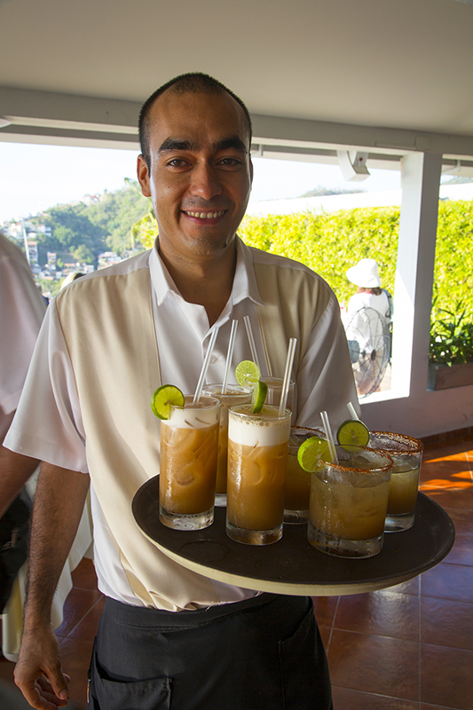 Cocktails at Vista Grill Restaurant, Puerto Vallarta