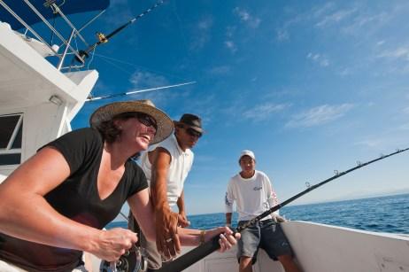 Deep sea sport fishing for sailfish Puerto Vallarta, Mexico.