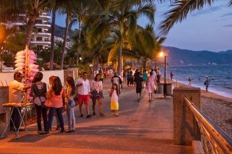 Evening on the Malecon in Puerto Vallarta