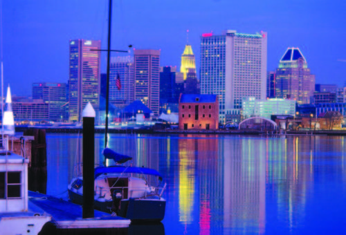 Baltimore Inner Harbor - Evening
