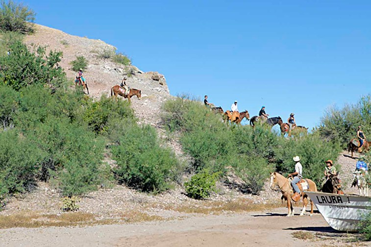 Burro Riding in Agua Verde of Baja California Sur, Mexico