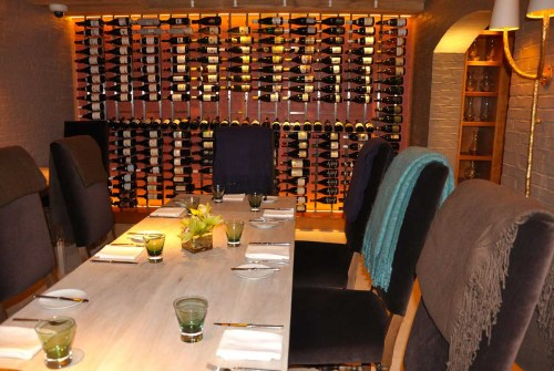 The Ivy - dinner table & wine racks