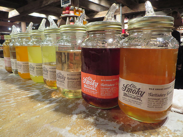 Moonshine flavors variety
