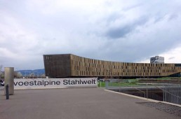 Voestalpinev Stahlwelt steel mill in Linz