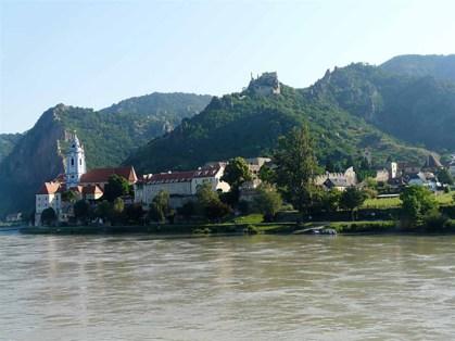 Durnstein on Danube in Wachau Valley Austria