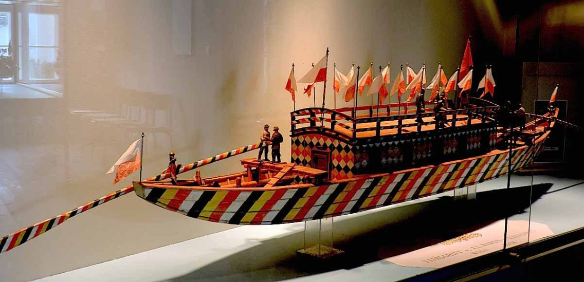 Model of old Danube vessel