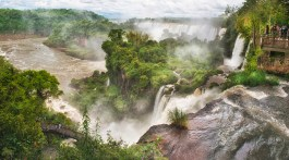 Sweeping panorama at Iguazu National Park