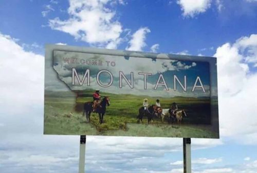 Montana state sign