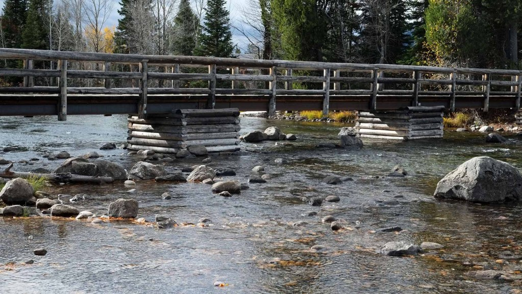 Footbridge below Jenny Lake