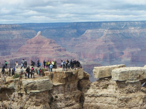 Most visitors only see the canyon from one of the overlooks atop the rim.