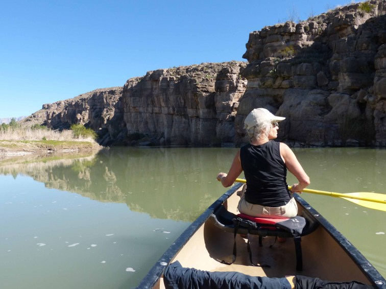 Paddling down the lazy Rio Grande