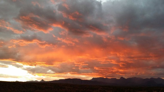 Sunset over Big Bend
