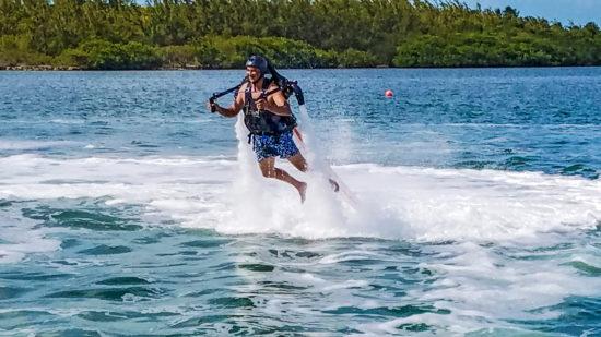 Jetboarding man in the Florida Keys
