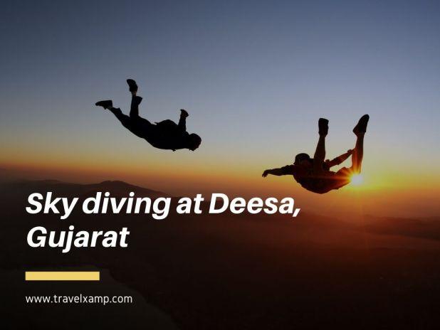 Sky diving at Deesa, Gujarat