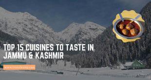 cuisines to taste in Jammu & Kashmir