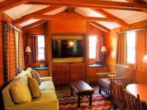 Disney Wilderness Cabin Living Room