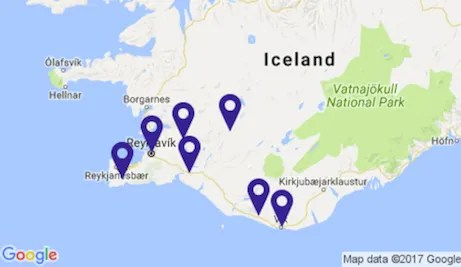 iceland 6 day map