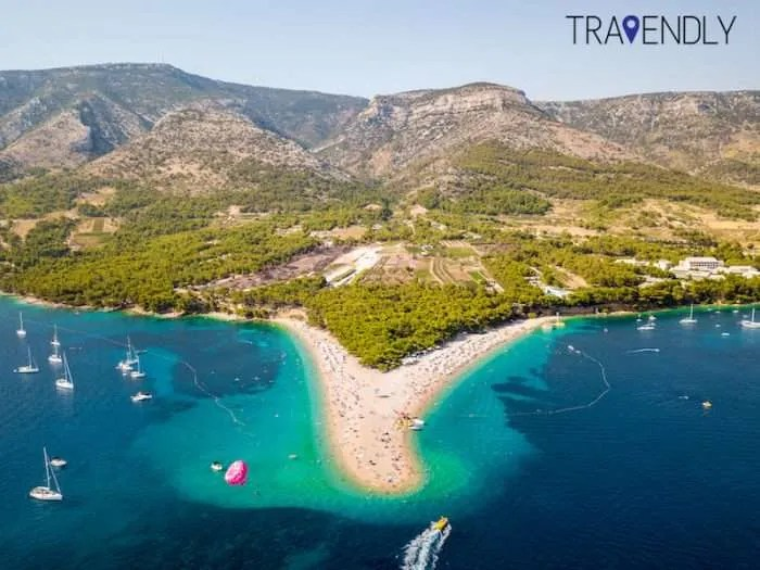 Zlatni Rat beach in Brac, Croatia