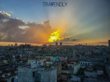 Beautiful sunset over Vedado Havana Cuba