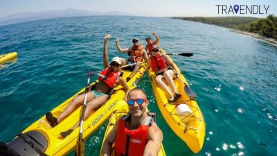 Kayaking on Brac island, Croatia