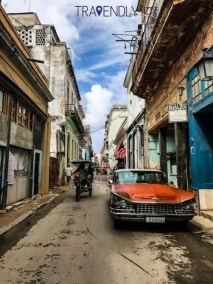 Lively streets of Old Havana Cuba