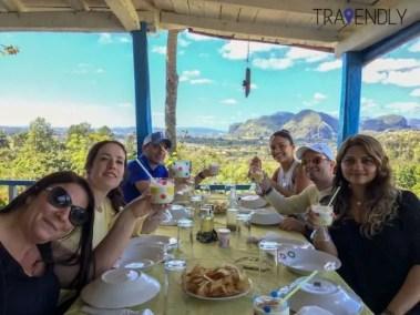 Best lunch views ever in Vinales