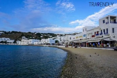 View by the old port in Mykonos Town
