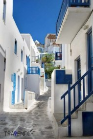 Through the winding streets of Mykonos Town