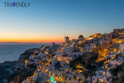 Sunset in Oia Santorini