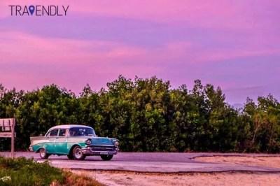 Purple sunset in Vinales Cuba