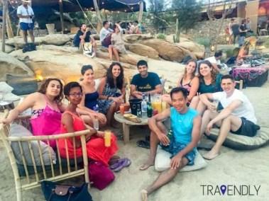 Relaxing at Scorpios beach club in Mykonos