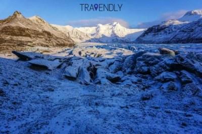 Beautiful ice formation on Skaftafell glacier, Iceland