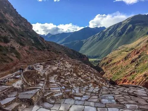 Maras salt mines in the Sacred Valley Peru