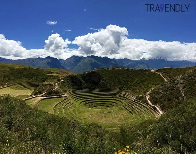 Stunning Moray Inca ruins in the Sacred Valley