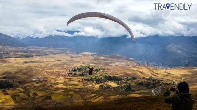 Paragliding in the Sacred Valley region of Peru