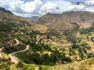 Picturesque Pisac ruins in Peru
