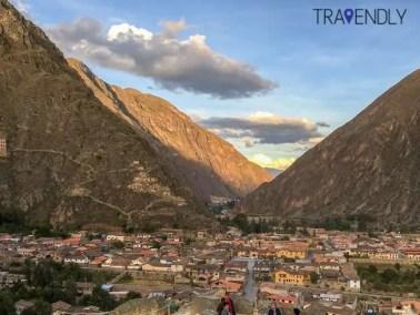 Scenic backdrop of Ollantaytambo Peru