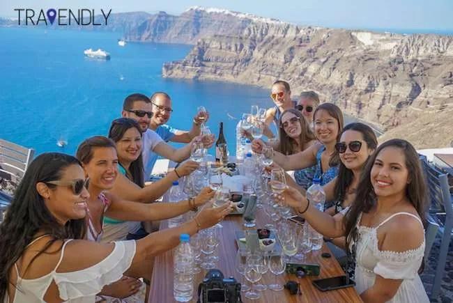 Wine tasting Santorini Greece