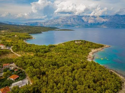 Aerial view of Supetar on Brac Island Croatia