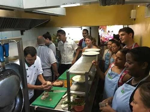 Cooking class in Cojimar Cuba