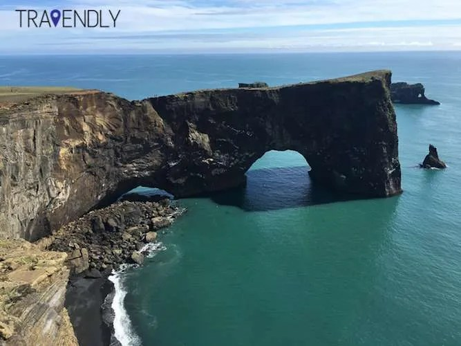 Dyrholaey Iceland keyhole summer