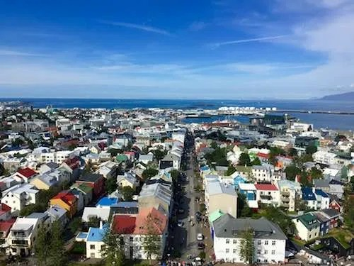 Reykjavik Iceland city skyline summer view
