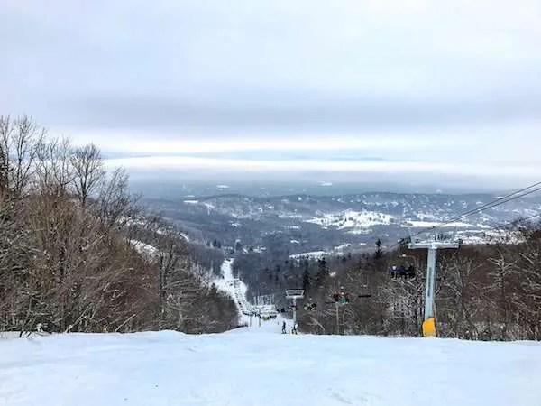 Ski trail at Okemo