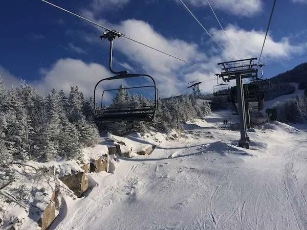 Ski slopes of Stratton Mountain