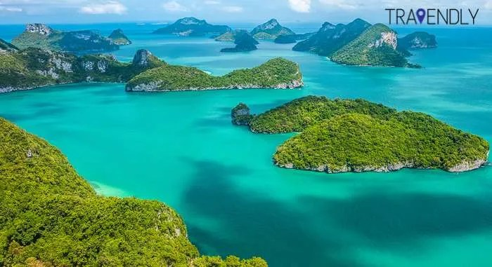 Ko Samui Islands Thailand group travel aerial