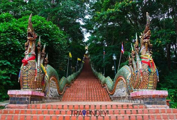 Nagas staircase Wat Doi Suthep Chiang Mai